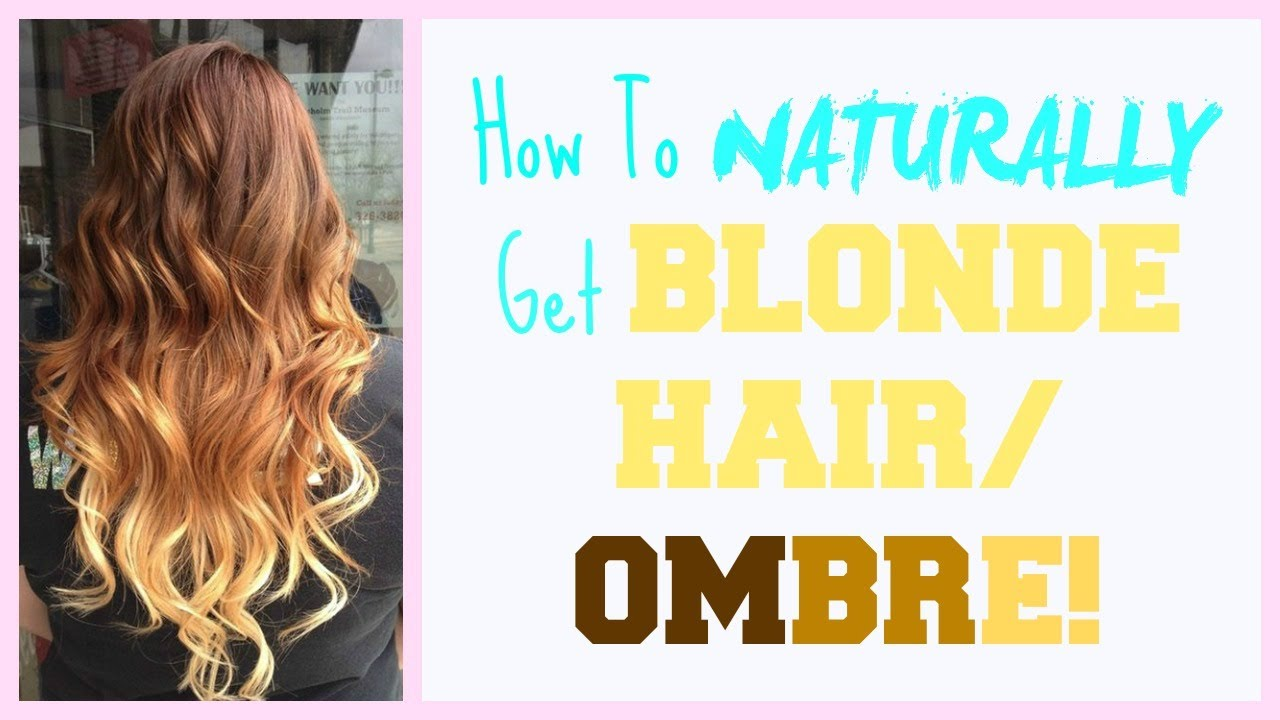 Blonde Hair Tips - How to Naturally Lighten Blonde Hair in the Summer